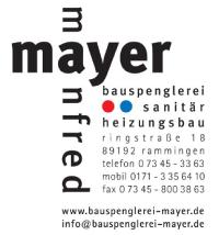 Manfred Mayer Bauspenglerei Sanitär und Heizungsbau
