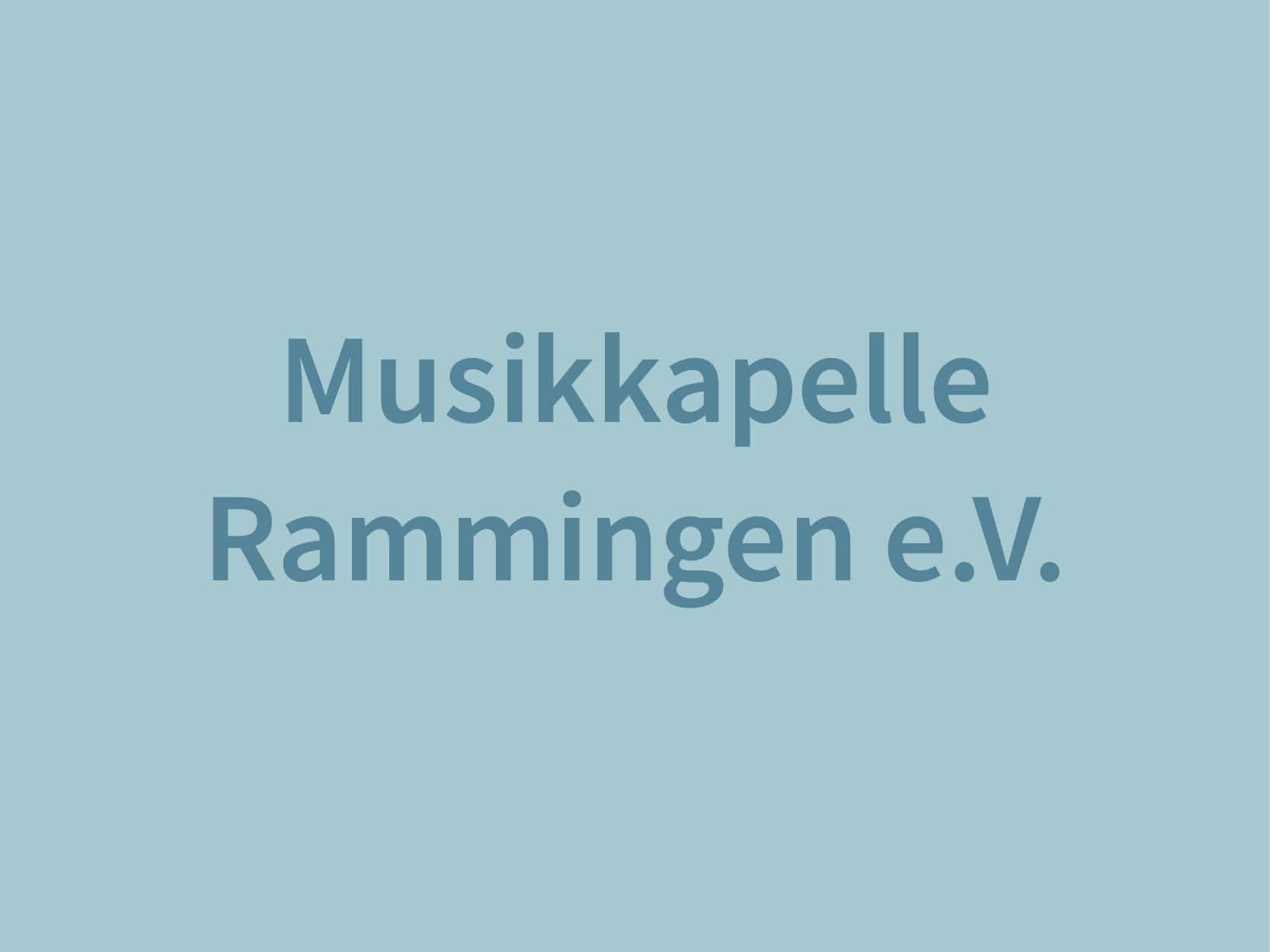 Musikkapelle Rammingen e.V.