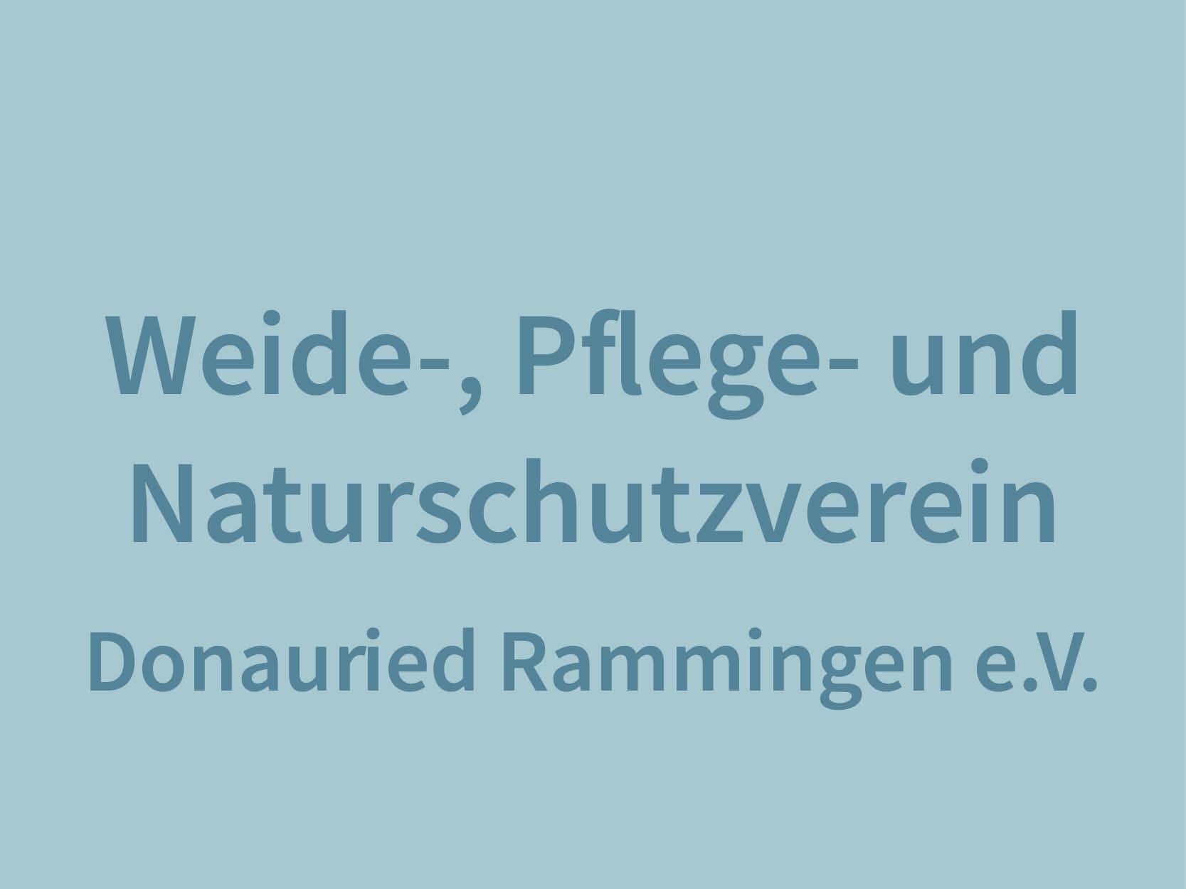 Weide-, Pflege und Naturschutzverein Donauried Rammingen e.V.