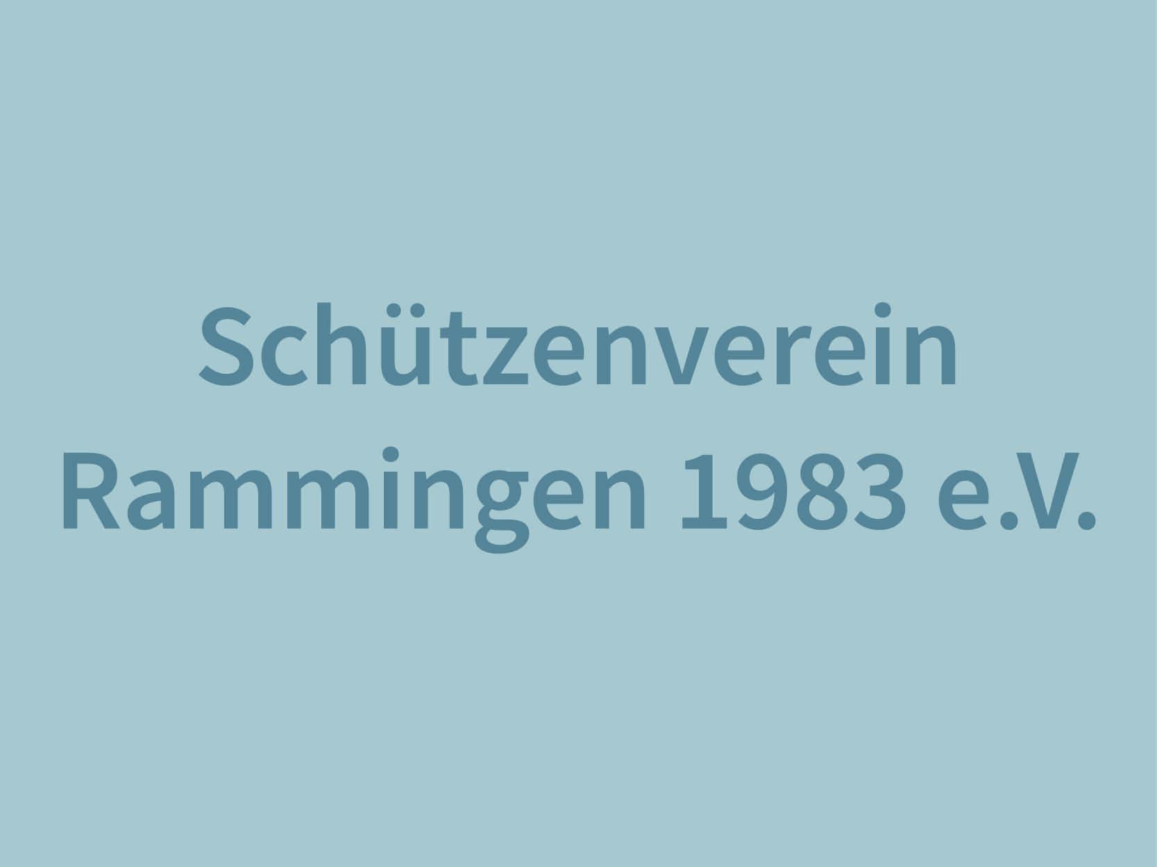 Schützenverein Rammingen 1983 e.V., Baden-Würrtemberg, Alb-Donau Kreis